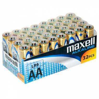 MAXELL PILA ALCALINA AA LR6 PACK32 PILAS