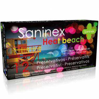 SANINEX CONDOMS HEAT BEACH PRESERVATIVOS 12 UDS