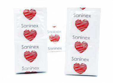 SANINEX CONDOMS MUSIC PUNTEADO 144 UDS