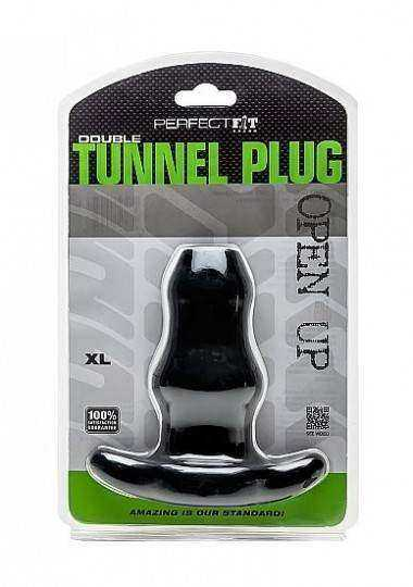 PERFECT FIT DOUBLE TUNNEL PLUG XL NEGRO