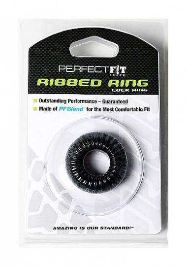 PERFECT FIT RIBBED ANILLO NEGRO