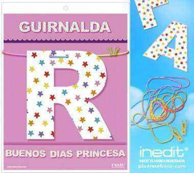 GUIRNALDA BUENOS DIAS PRINCESA Cartulina 220gr