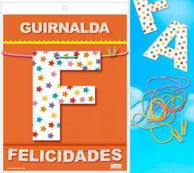 GUIRNALDA FELICIDADES CARTULINA 220gr