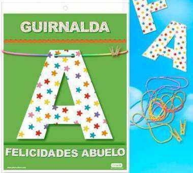 GUIRNALDA FELICIDADES ABUELO Cartulina 220gr