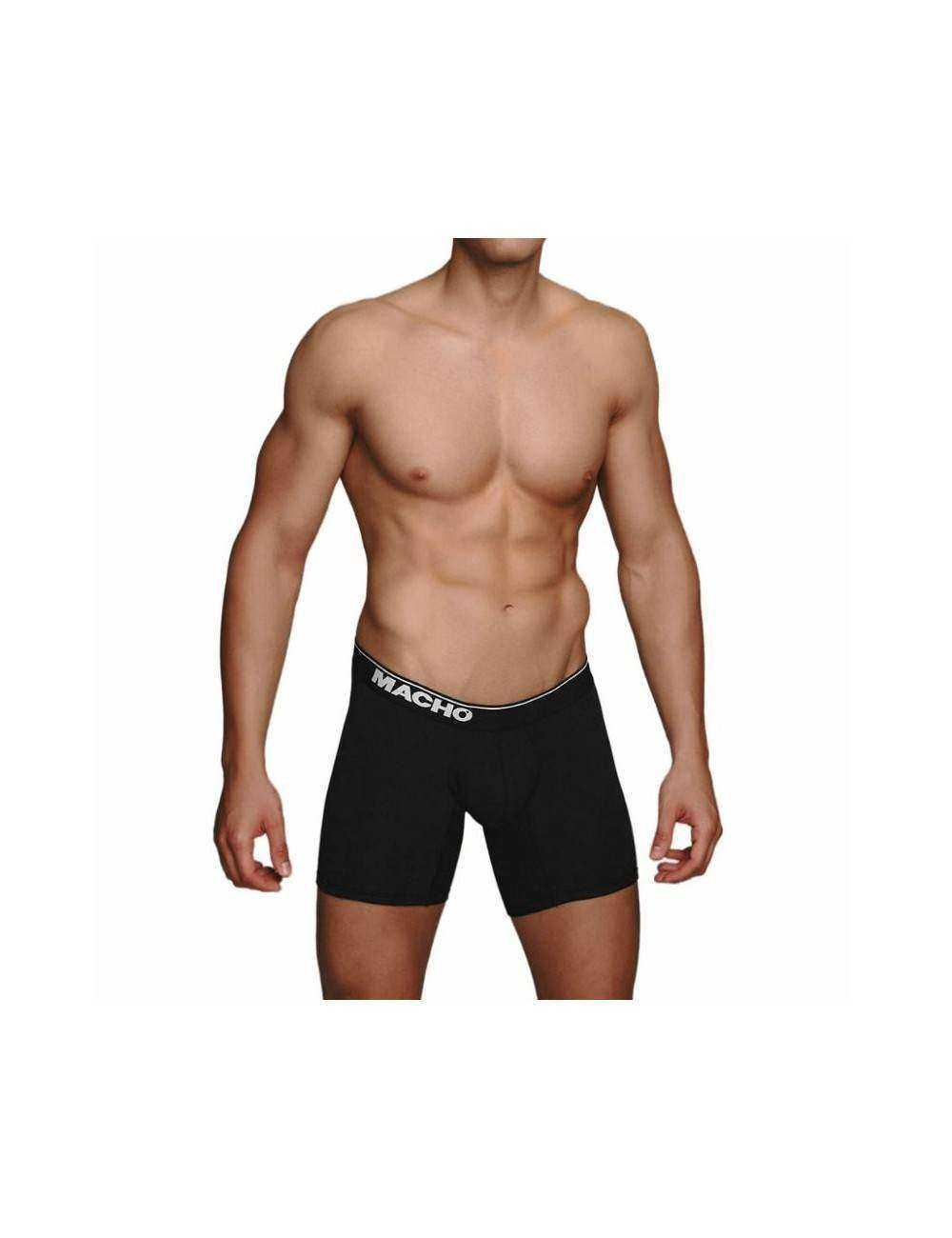 MACHO MC087 BOXER LARGO NEGRO TALLA S