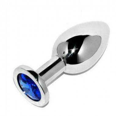 METALHARD ANAL PLUG DIAMOND BLUE SMALL 571CM