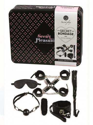 SECRET PLAY BDSM SET 8PCS NEGRO