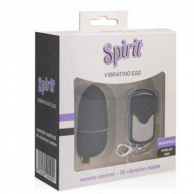 SPIRIT MEDIUM VIBRATING HUEVO CONTROL REMOTO NEGRO