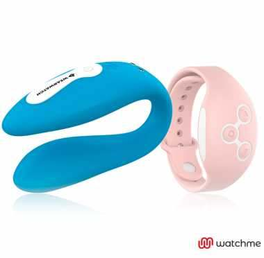 WEARWATCH VIBRADOR DUAL TECHNOLOGY WATCHME AZUL ROSA